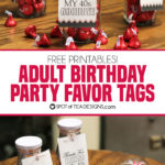 Adult Birthday Party Favors with Free Printable Tag