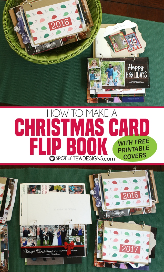 Mailbox Stand Designs : How to make christmas card flip books spot of tea designs
