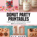 Donut Party: Free Printables and Shaker Card Invitation