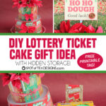 Lottery Ticket Cake with New Jersey Lottery Holiday Games