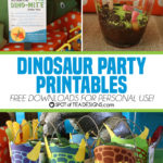 Dinosaur Party Printables – Free to Download for Personal Use