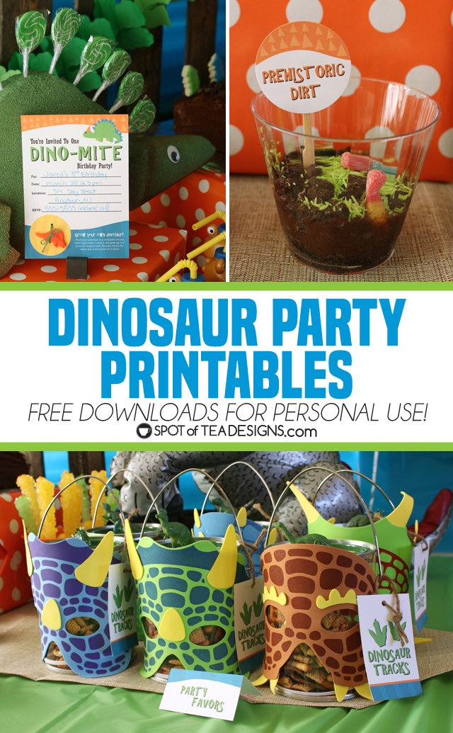 Dinosaur Party Printables - Free to Download for Personal ...