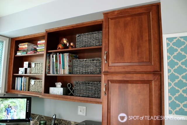 Home office makeover with before and after photos | spotofteadesigns.com