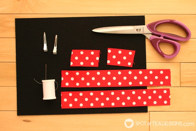 DIY Minnie Mouse Hair Clips | spotofteadesigns.com