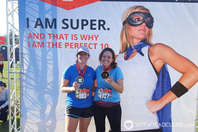 Tips on how this mom of 2 trained for a 10 mile race | spotofteadesigns.com