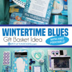 Colorful Gift Basket Idea: Wintertime Blues Package