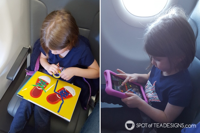 What to include inside airplane Travel Bags for Kids - age 4 | spotofteadesigns.com
