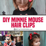 DIY Minnie Mouse Hair Clips