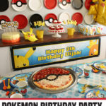 Pokemon Birthday Party | Paper Plate Backdrop