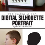 Mother's Day Gift Idea: Digital Silhouette Portrait