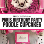 Paris Birthday Party | Marshmallow Poodle Cupcakes