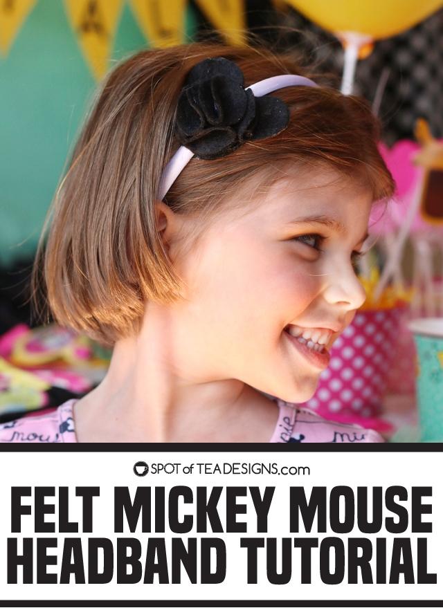 Felt Mickey Mouse Headband Tutorial