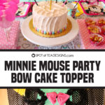 Minnie Mouse Party | Bow Cake Topper