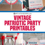 Vintage Patriotic Party Printables