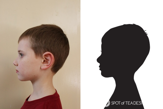 Mother's Day Gift Idea: Digital silhouette portrait of all the grandkids | spotofteadesigns.com