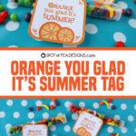 Orange you glad it's summer favor tags