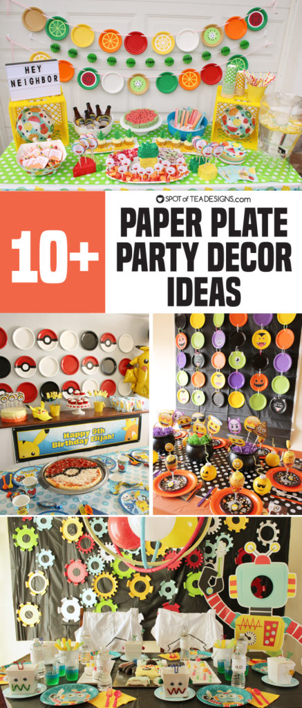 10+ Paper Plate Party Decor Ideas