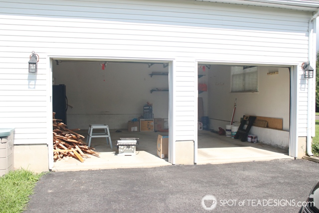 "Nehil Home Tour: the ""before"" photos - two car garage 