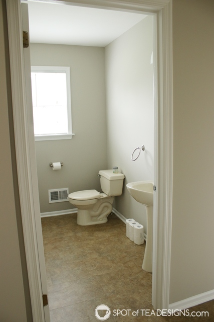 "Nehil Home Tour: the ""before"" photos - half bathroom 