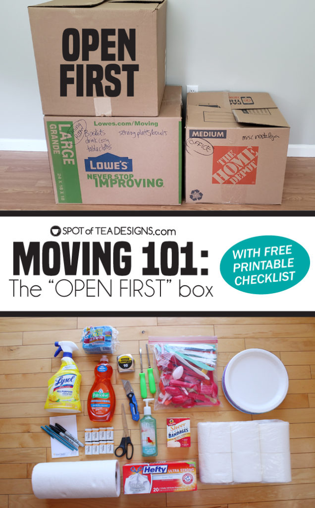 Moving 101: The OPEN FIRST Box With Printable Checklist