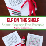 Elf on the Shelf – Secret Message Printable