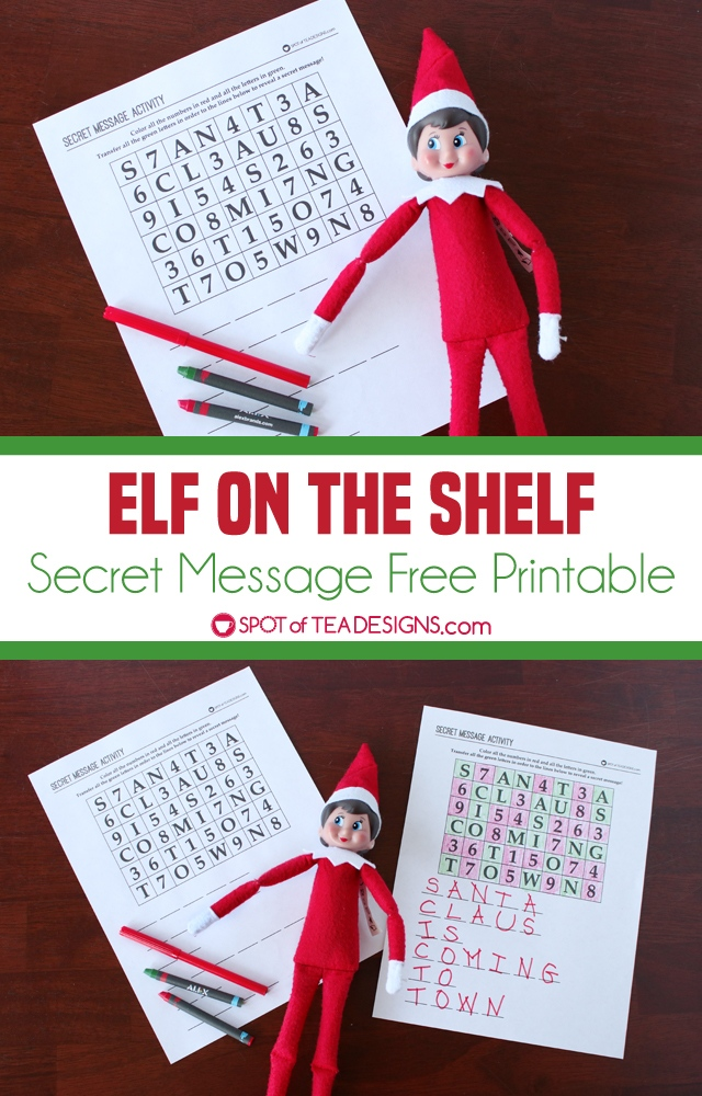Elf on the Shelf – Secret Message Printable