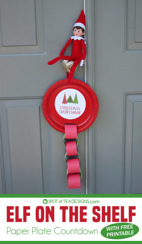 Elf on the Shelf Idea – Christmas Paper Plate Paper Chain Countdown