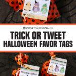Trick or Tweet Halloween Favor Tags