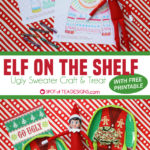 Elf on the Shelf – Ugly Sweater Craft with Free Template