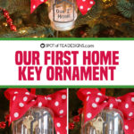 Our First Home Key Christmas Ornament