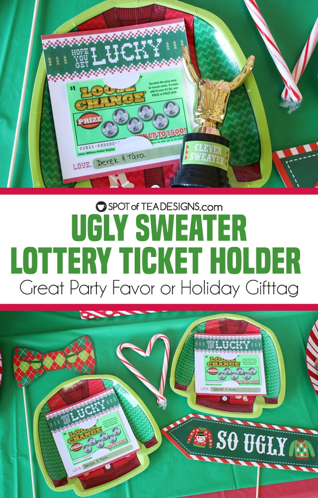 Ugly Sweater Lottery Ticket Holder