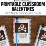 Printable Classroom Valentines | Lollipop Holders