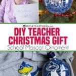 DIY Christmas Teacher Gift | School Mascot Ornament