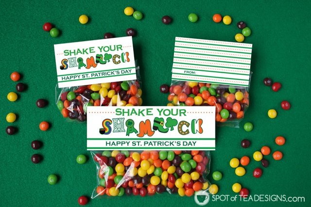 St. Patrick's Day party printables - instant download tags and bag toppers | spotofteadesigns.com